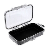 Outdoor Shockproof Survival Waterproof Storage Case Box Container, Clear