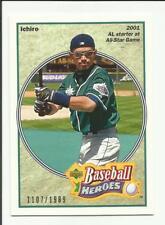 Ichiro 2002 UD Authentics Heroes of Baseball #HB-15  #1107/1989
