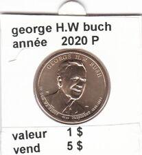 pièces de 1 $  george H.W. buch 2020 P