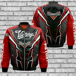 Victory Motorcycles/Top Men's US 3D Bomber Jacket/Version 2/Hot Gift/Size S-5XL