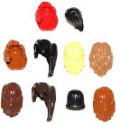 ☀️NEW LEGO LOT OF 10 FEMALE MINIFIGURE HAIR WIGS PONYTAILS BROWN BLONDE BLACK
