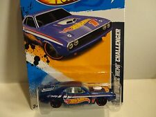 2012 Hot Wheels #174 Blue '70 Dodge Hemi Challenger w/Red Rim Wheels