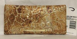 Brahmin Melbourne ADY Slim Bifold Wallet CAMEL SAFARI Brown Gold Giraffe NWT