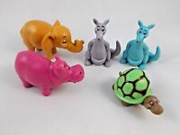Boley Animal Lot Elephant Turtle Kangaroo Hippo 2001 Toy Figure