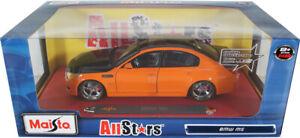 RARE MAISTO ALL STARS BMW M5 ORANGE 1/18 DIECAST CAR 31335 RARE