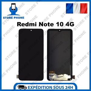 Ecran LCD Complet + Vitre tactile Xiaomi Redmi Note 10 4G M2101K7AI TFT Noir