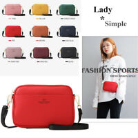 Leather Women Phone Crossbody Purse Sport Messenger Shoulder Bag+1 free wallet