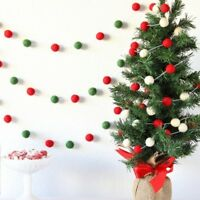 Christmas tree Decoration Pom Pom Felt Balls Garland Birthday Room wall decor