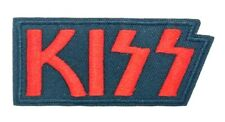 KISS - RED BLACK LOGO - IRON ON or SEW ON PATCH  1766
