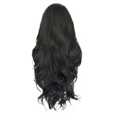Real Human Hair Full Wigs Long Curly Wavy Hairpieces Front Lace Wig Heat OK