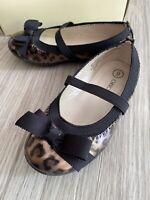 Girls Size 9 Cheetah Animal Print Toddler Bow Cherokee Shoes