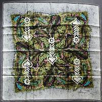 foulard carré de soie SKLÊRIJENN 77 cm x 77 cm VINTAGE neuf