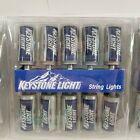 VINTAGE KEYSTONE LIGHT BEER STRING LIGHTS RARE WORKS 30 CANS
