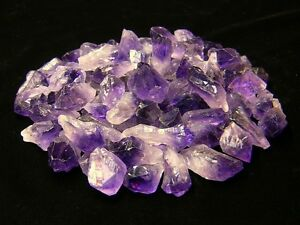 1/2 lb Amethyst Points & Pieces Natural Purple Rough Gemstone Crystals Brazil