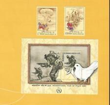 """BANGLADESH 1986 - postfrisch**MNH - MiNr. 252-253 + Bl. 14  """"Jahr des Friedens"""""""