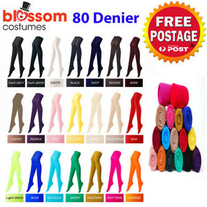 K604 80s 70s Disco Opaque Womens Pantyhose Stockings Hosiery Tights 80 Denier