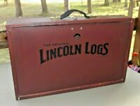 ORIGINAL LINCOLN LOGS COLLECTOR'S EDITION BUILDING SET-WOODEN CARRYING CASE ONLY