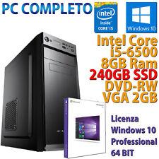 Ordinateur Personnel Fixe Assemblé Bureau Core i5-6500 RAM 8GB DDR4 SSD 240GB
