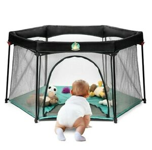 NEW BABYSEATER PORTABLE PLAYARD PLAYPEN WITH CARRYING CASE FOR INFANTS & BABIES