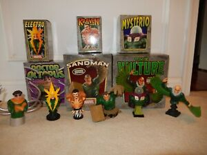 Bowen Spiderman Sinister Six Artist Proof Mini Bust Set (6) Some Signed