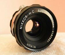NIKON 1972 NIKKOR-HC Auto 1:2 f=50mm 5mm F2 F/2 Non-AI Prime Lens --CLEAN