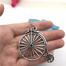 Bicycle Charm Necklace Charms Jewelry Tibet silver Pendant Chain Necklace