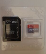 Genuine Sandisk 200GB Ultra Micro SD SDXC Card Android With Adapter A1, 100mb/s