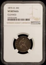 1875-cc Twenty Cent Piece 20c Carson City NGC VF Details