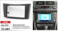 CARAV 11-451 2Din Marco Adaptador Kit de Radio MERCEDES E (W211), CLS (C219)
