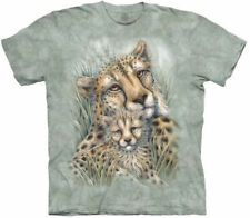The Mountain Cheetah Cat Fast Tiger King Spotted Animal Cotton T-Shirt M-5X