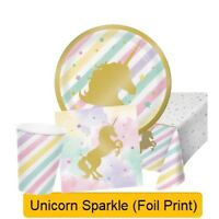 UNICORN SPARKLE Birthday Party Range - Tableware Balloons & Decorations {CP}