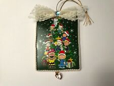 Charlie Brown Christmas ornament, handcrafted on wood, snoopy, item #44