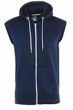 New Boys Kids Plain Zipper Fleece Sleeveless Hoodies Sweatshirt Gilet Hoodies