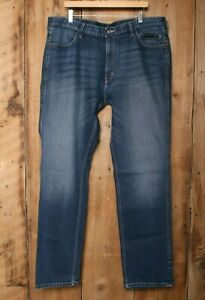 HARLEY DAVIDSON FXRG Armalith Stretch Denim Jeans Sz. 40x34 (Irregular)