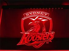 Sydney Roosters LED Neon Sign Flag Large NRL Rrp $79.95