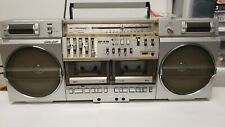 Sharp GF 575 Ghetto Blaster Stereo Boombox TESTED and WORKING See VIDEO!