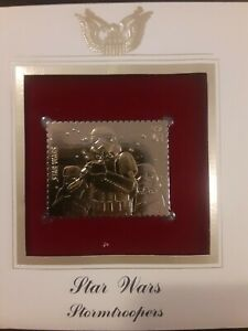 Star Wars First Stormtroopers 24k Replica Gold Stamp May 25 2007
