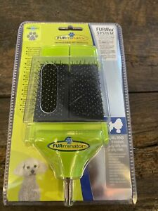 FURMINATOR FURFLEX DOG GROOMING DUAL SLICKER BRUSH ATTACHMENT FOR SMALL DOGS New