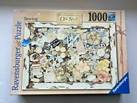 Ravensburger 1,000 Piece Jigsaw Puzzle OLD STUFF - SEWING Pre Owned Complete