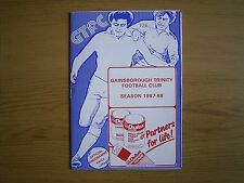 GAINSBOROUGH TRINITY V SOUTH LIVERPOOL Northern Premier League 1987-88