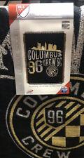 "MLS Columbus Crew - Woven Tapestry Throw 48""x60"" *"