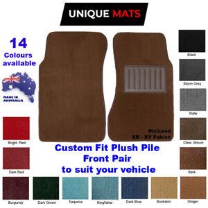 Suits Mazda RX 7 rx7 Series 1, 2, 3 CUSTOM Front Car Floor Mats Plush Pile