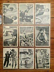 1965 James Bond Trade Cards Part Set 42 / 66 Cards Glidrose Productions