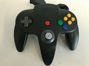 Official Nintendo BLACK Controller for the Nintendo 64 N64 Games Console Tested