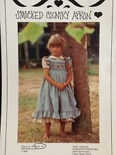 APRON Pattern Smocking Country Vintage Uncut Girl's 8 10 Homespun Treasures 101
