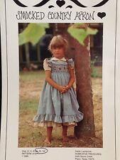 APRON Pattern Smocking Country Vintage Uncut Girl's 8 10 Homespun Treasures 101