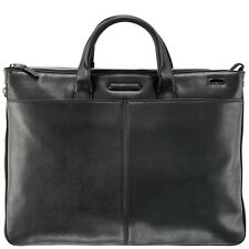 Piquadro Modus Brown small expandable organized portfolio briefcase CA1618MO/TM2