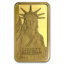 5 gram Gold Bar - Credit Suisse Statue of Liberty - SKU #45922