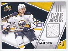 Drew Stafford , 2011-12 , Upper Deck , Game JERSEY , #GJST