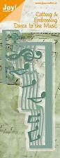 Joy artesanía Suajado grabado de la plantilla-Notas Musicales 6002/0272